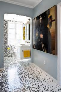 Mosaic Tile Bathroom Ideas by Pixilated Bathroom Design Made With Custom Mosaic Tile