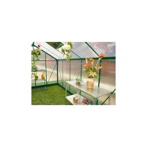 serre de jardin promo serre de jardin 9 13m 178 anthracite en polycarbonate embase green protect