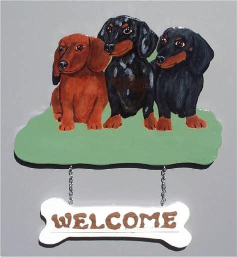 brandydesigns three dachshund welcome sign
