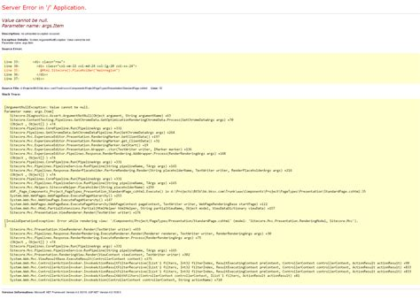 mvc layout null not working sitecore 8 mvc when the errors are not telling you what