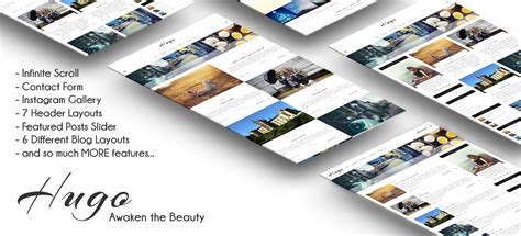 hugo themes blog hugo wordpress responsive blog theme roartheme