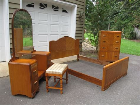 1940 bedroom furniture sold deco 1940 waterfall 4 pc 1940 bedroom furniture sold deco 1940 waterfall 4 pc
