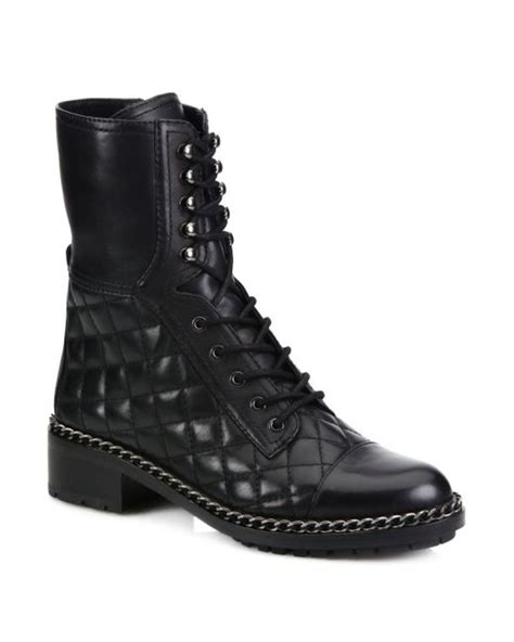 Vince Camuto Quilted Boots by Vince Camuto Joanie Quilted Chain Trim Leather Mid Calf
