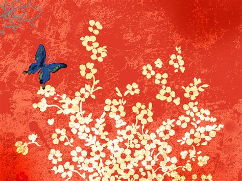 chinese design chinese flower wallpapers 9to5animations com