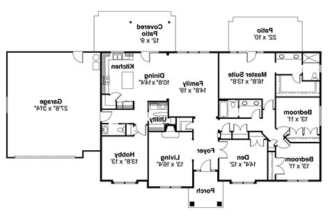 A House Plan by Ranch House Plans Brennon 30 359 Associated Designs
