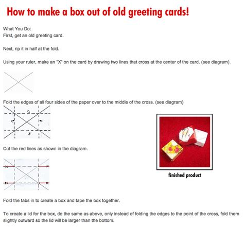 How To Make A Up Box Out Of Paper - 17 best images about greeting cards boxes on
