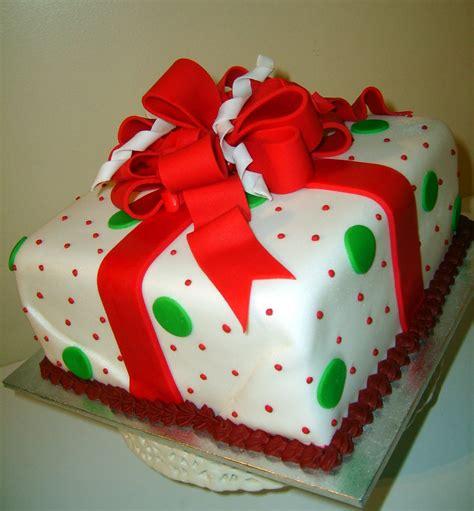 caketopia christmas gift box cake