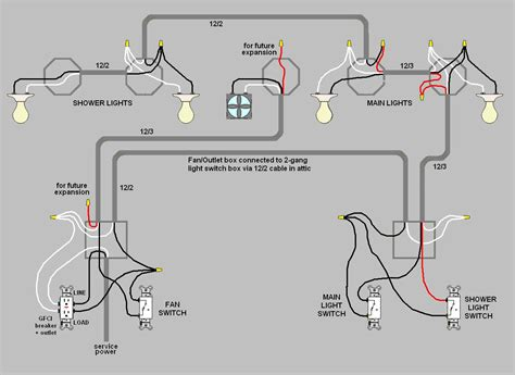Electrical How Do I Wire Multiple Switches For My Bathroom Lights And Fan Home