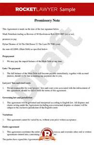 promissory note free promissory note template