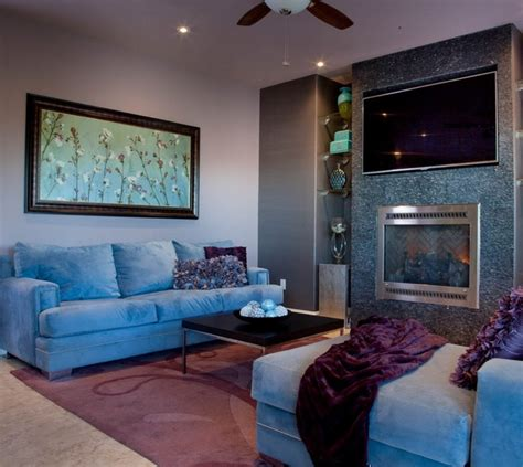 Purple Living Room Houzz Purple Contemporary Living Room San Diego