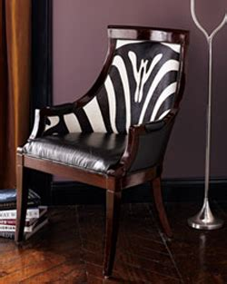 Tiger Upholstery Fabric Zebra Print Leather Chair From Neiman Marcus Thehome Com