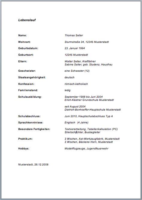 Lebenslauf Beispiele 2015 Tabellarischer Lebenslauf Vorlage Sch 252 Ler Lebenslauf