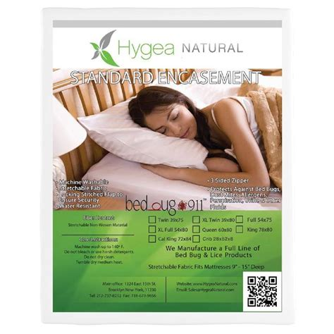 mattress covers bed bugs bed bug 911 hygea natural bed bug mattress cover or box