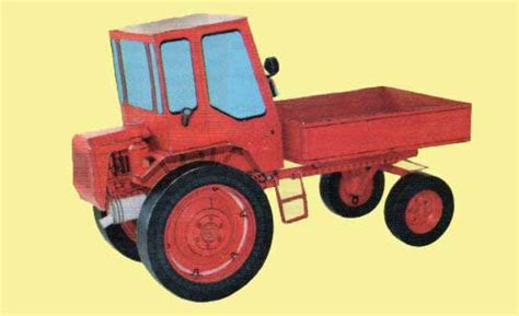 Origami Tractor - t 16m tractor free vehicle paper model