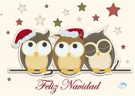 imagenes buhos navideños postales de navidad para imprimir b 250 hos navide 241 os