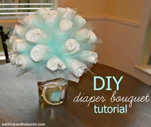 eat drink and be lauren diy diaper bouquet tutorial