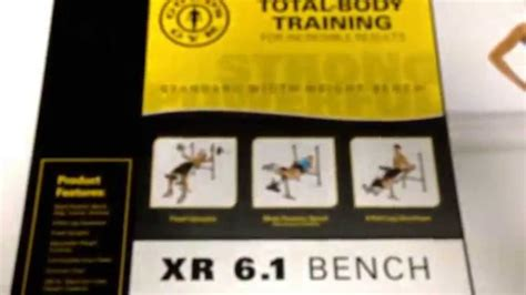Gold Weight Bench Gold S Gym X R 6 1 Bench Youtube
