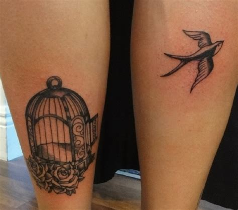 cool leg tattoos cool birdcage leg tattoomagz