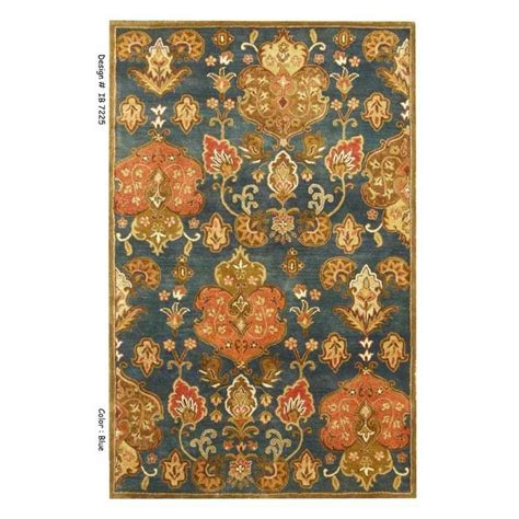 lowes area rugs 9 x 12 shop kas rugs tapestry today blue rectangular indoor