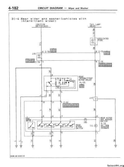 rear wiper wiring diagrams galant vr 4 gt general vr4