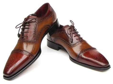 leather sole oxfords mens shoes paul parkman cap toe oxfords camel lloyd