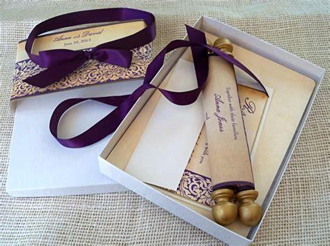 Boxed Scroll Wedding Invitations