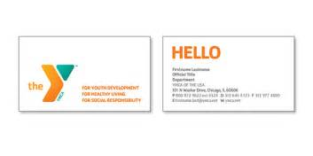 business card layouts business card layout for ymca of the usa