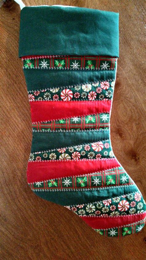 pattern for crazy quilt christmas stocking homemade quilted christmas stocking by sewdangcreative on