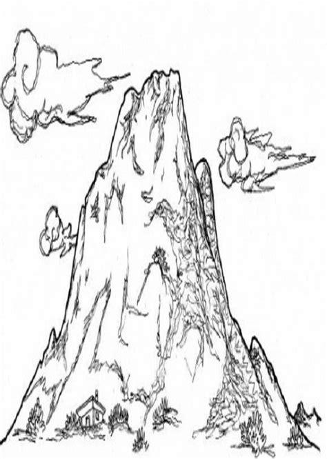 imagenes vectoriales montaña dibujo de una montaa para imprimir y colorear dibujos