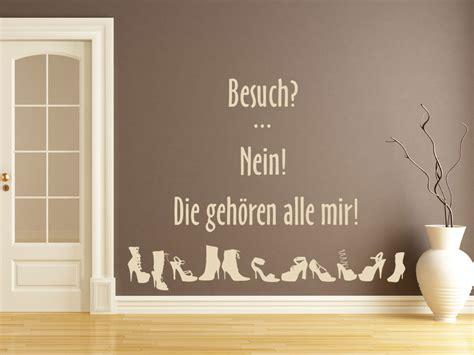 Ankleidezimmer Englisch by Wandtattoo Spruch Schuhtick Besuch Nein Die Geh 246 Ren