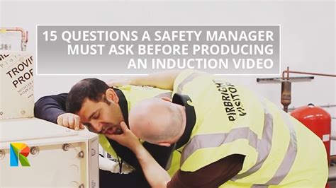 15 questions a safety manager must ask before producing an induction