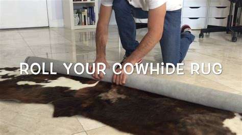 Cowhide Rug Cleaning - how to remove the creases of your cowhide rug