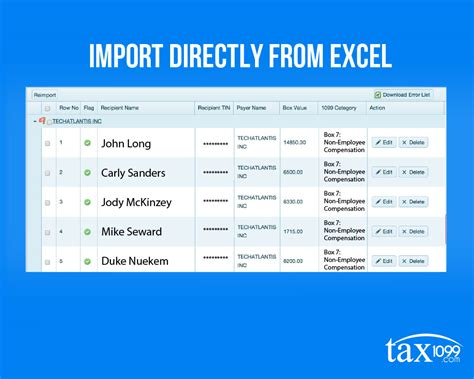1099 Template Excel by Sync Your 1099 Vendors From Excel To Tax1099 In A