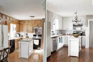 Paint Kitchen Cabinets Before And After Paint Kitchen Cabinets White Before And After Home