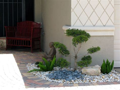 backyard pebble gravel garden design ideas with pebbles