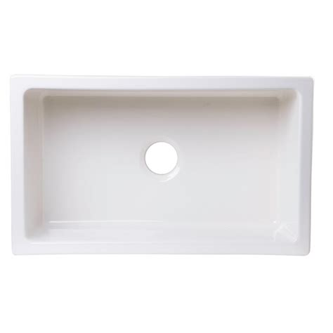 Kitchen Sink Brand Alfi Brand Undermount Fireclay 30 In Single Basin Kitchen Sink In Biscuit Ab3018um B The Home