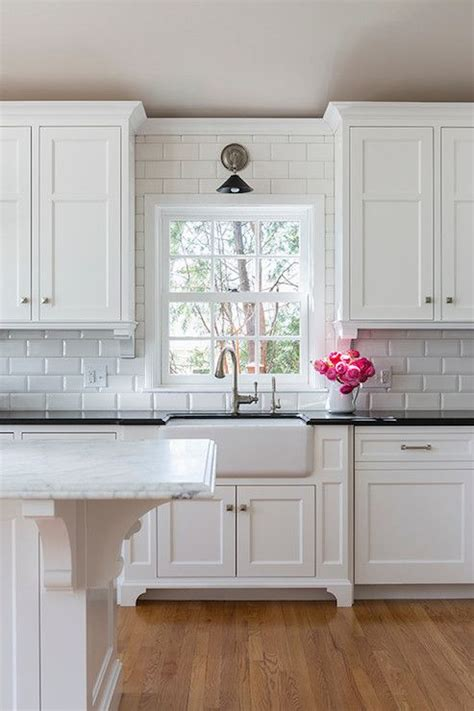 tile under kitchen cabinets the 25 best beveled subway tile ideas on pinterest