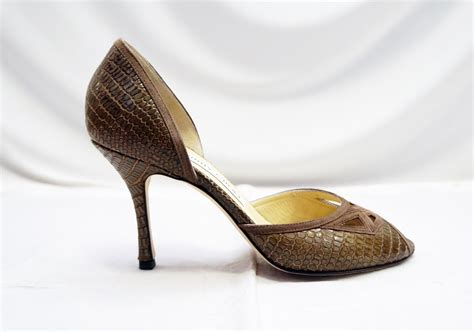 Jimmy Choo Cut Out Pumps In The Cut Designer Sale At Saks by Jimmy Choo Olive Reptile Embossed Cut Out D Orsay 7