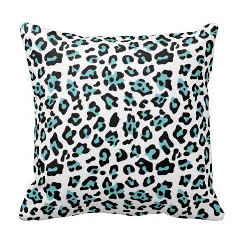 Animal Print Pillows by Teal Black Leopard Animal Print Pattern Pillow Zazzle
