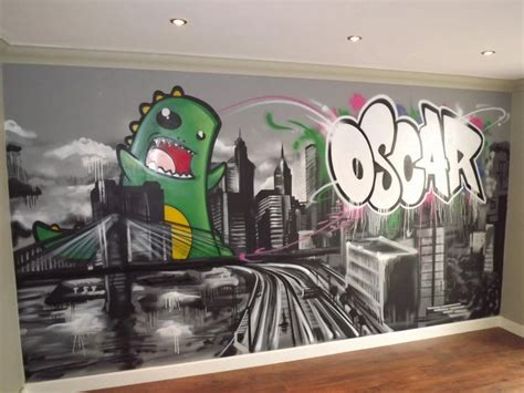 graffiti bedroom wall children teen kids bedroom graffiti mural hand