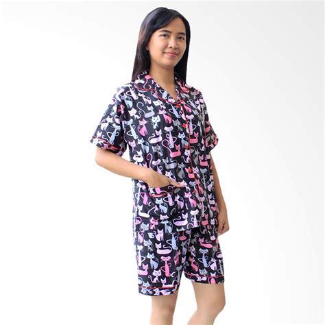 Baju Tidur Setelan Wanita by Jual Aily Aly002 Setelan Baju Tidur Wanita Hitam