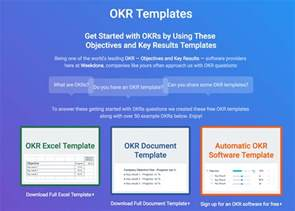 okr templates amp examples how to write great objectives
