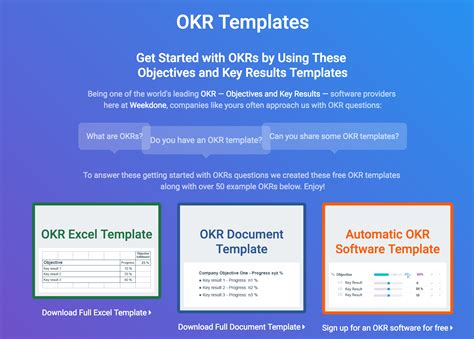 okr template okr templates exles how to write great objectives