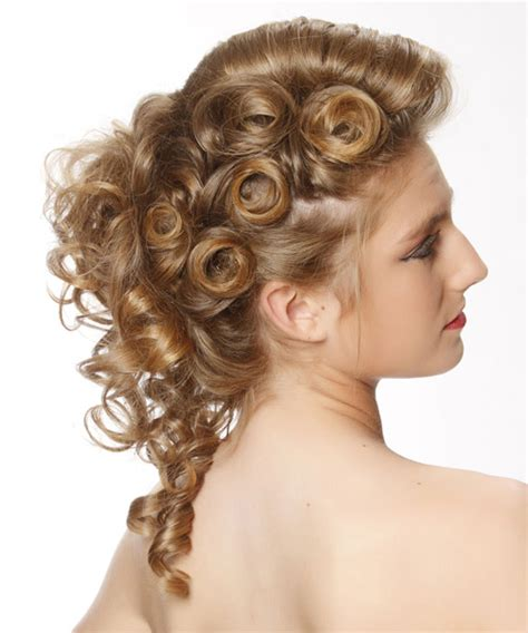 curly prom pin ups for black women curly formal updo hairstyle dark blonde hair color