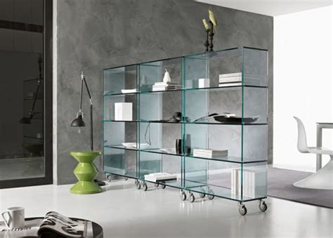 glass libreria bookcase tonelli