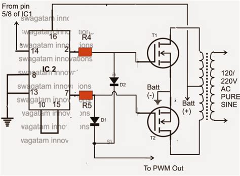 transistor irf3205 equivalent make this ic 556 sine wave inverter circuit