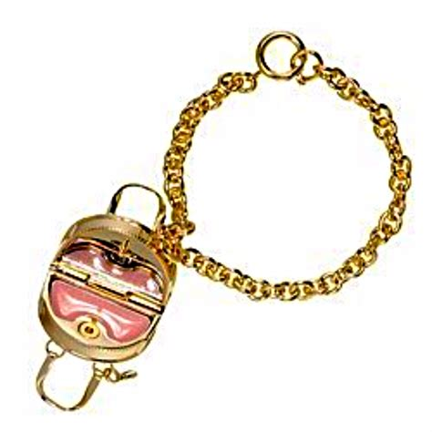 Lip Gloss Jewelry Is A Trendy Must In 12 K Gold With Charms From Couture Its That Much Cuter Fashiontribes by Couture Charms Handbag Purse With Lip Gloss Lip