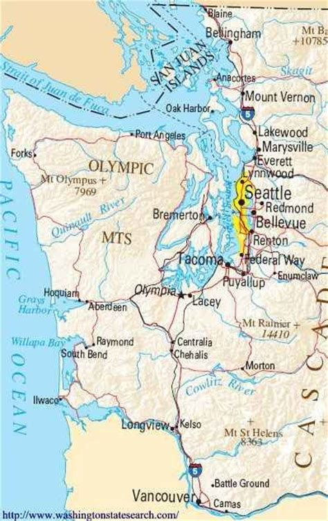 map of oregon and washington coast washington coastline