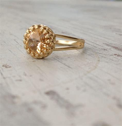 gold ring birthstone ring gemstone ring topaz ring