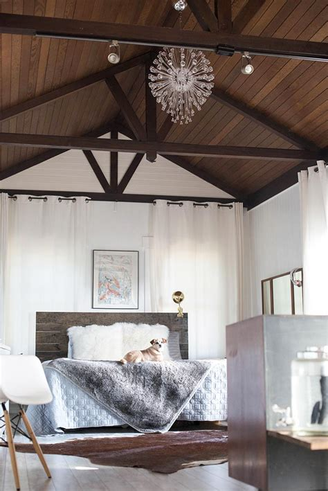 interior design bedroom vaulted ceiling a modern farmhouse rich in history in palo alto s